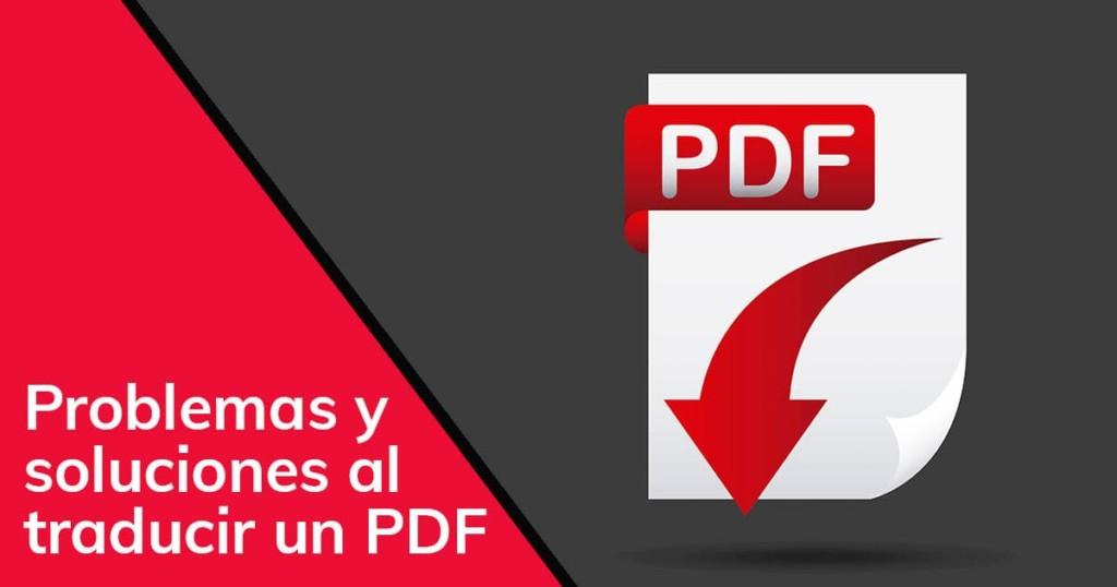 Problemas y soluciones al traducir un PDF