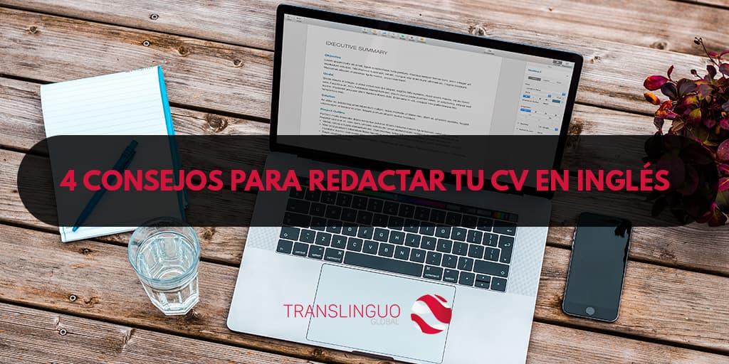 4 consejos para redactar tu CV en inglés