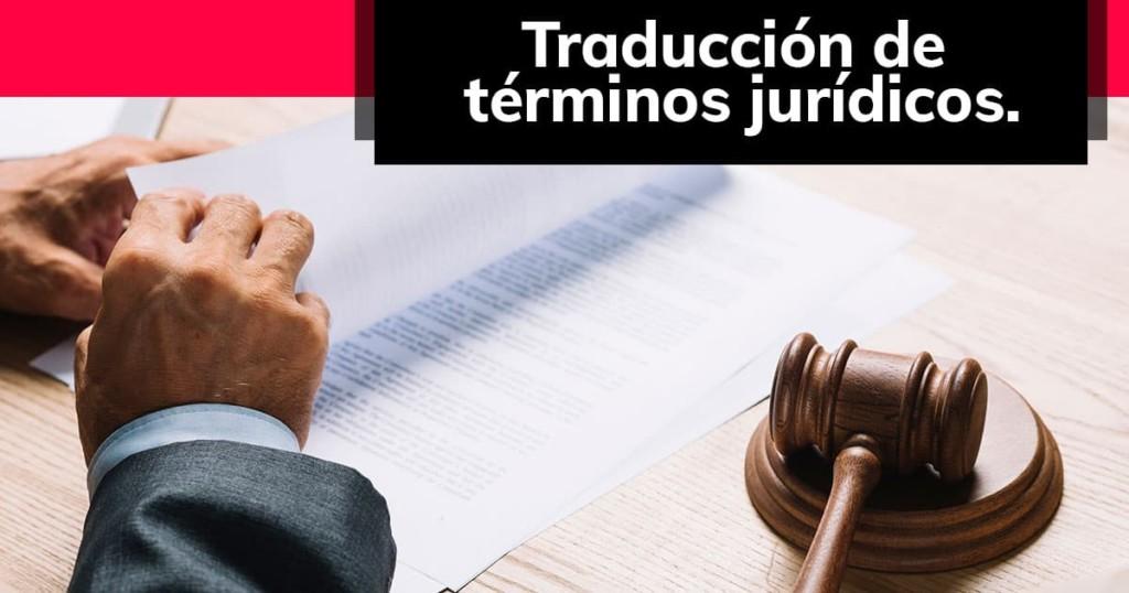 Traducción de términos jurídicos.