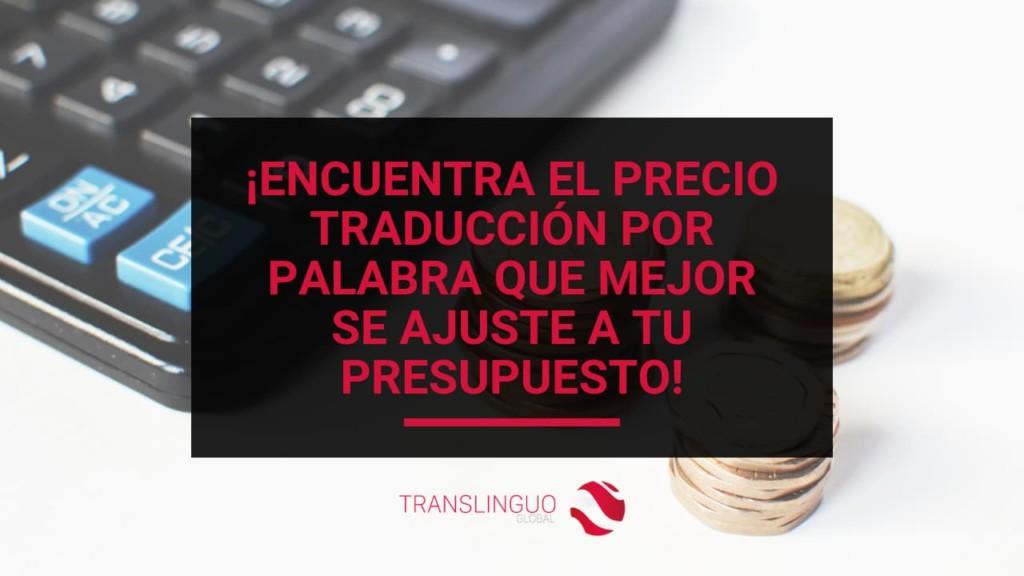 precio traducción por palabra