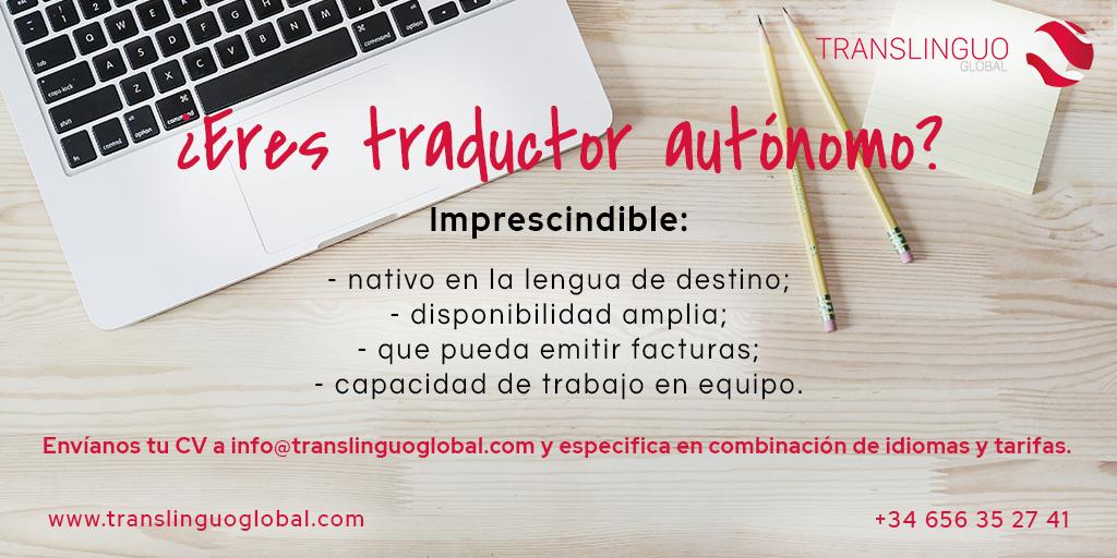 ¿eres traductor autónomo?