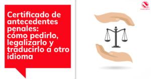 Traducción de Certificado de antecedentes penales